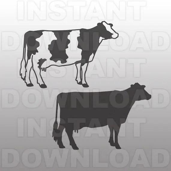 Download Holstein Dairy Cow SVG FileCow svgLivestock SVG-Vector Clip