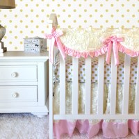 Ivory Roses Crib Bedding Baby Pink Baby Bedding Solid Sheet