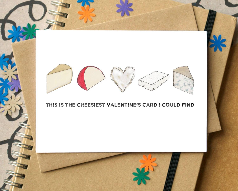 Cheesy Valentine S Card Funny Valentine S Card