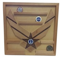 Wall Mounted Air Force Challenge Coin Holder Engraved