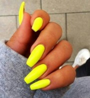 neon yellow lime matte glossy fake