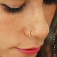 Nose Ring Hoop gold or silver nose hoop Nose Piercing Tragus