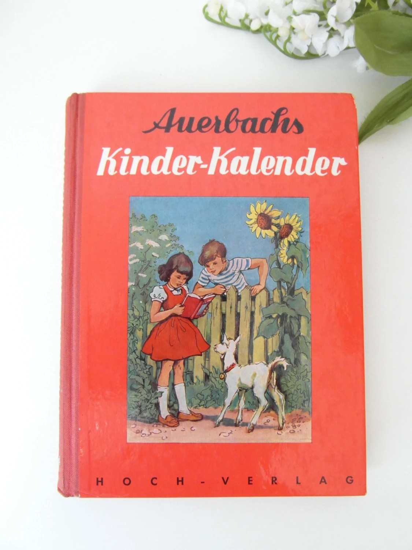 Kinderbuch AUERBACHS Kinder Kalender 1950er Comic Bilder