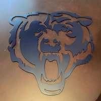 Chicago Bears Metal Art Wall Decor Sign Mancanve CNC man cave