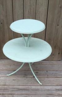 vintage metal table painted metal patio table end table mid
