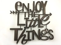 Enjoy The Little Things Oil Rubbed Bronze Metal Wall Art
