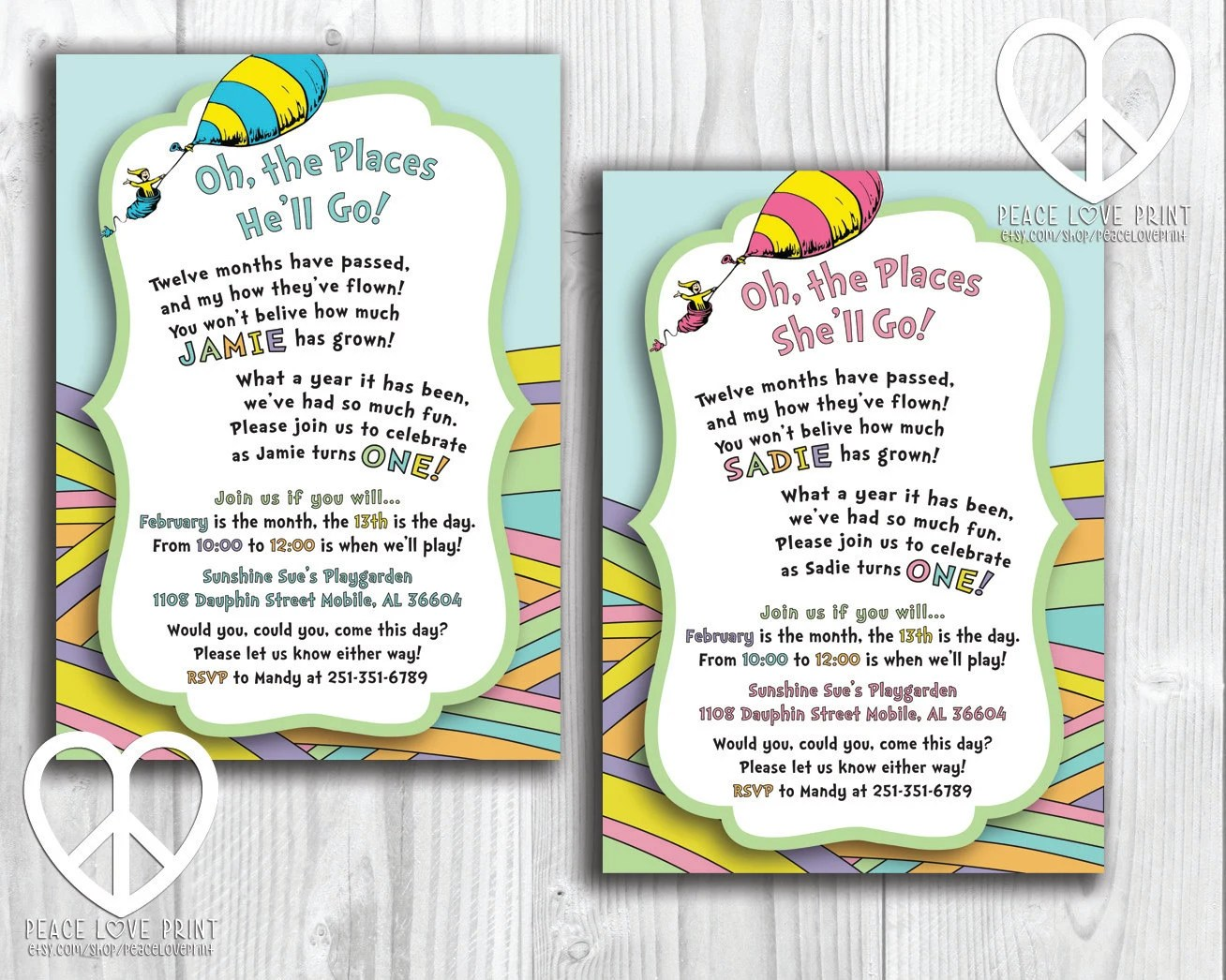 Oh The Places You Ll Go Printable Birthday Invitation