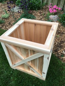 Cedar Planter Box Wood Outdoor