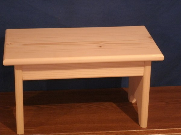 Wood Step Stool Wooden Stoolrustic Unfinished