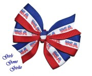 memorial day hair bow red white