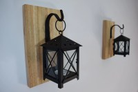 Rustic Candle Lantern Sconces Wall Decor Wall Sconce