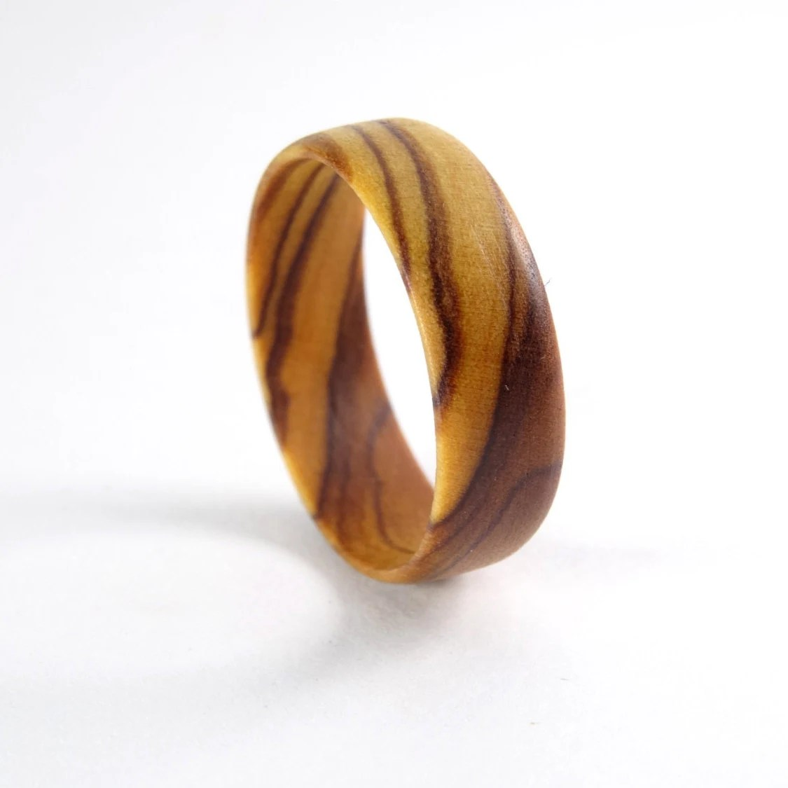 Olive Wood Ring  Wooden Ring  Wooden By Deschosesenbois