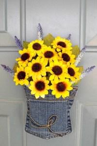 Sunflower Spring Door Decoration Spring by WallflowersbyKerri