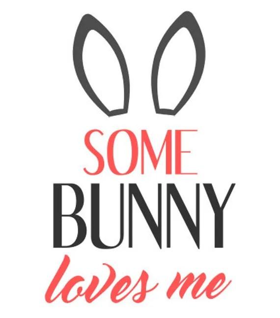 Download Some Bunny Loves me Easter Spring SVG File by TheSVGcorner ...