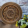 Wooden Decorative Plate Wall Plate Wooden Wall Decor Carved