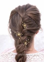 wedding hair pins star flower
