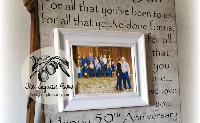 50th Anniversary Gifts Parents Anniversary Gift For All That