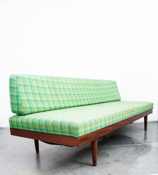 Mid century danish modern daybed couch sofa vintage for Mid century daybed sofa