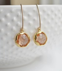 Peach Drop Earrings