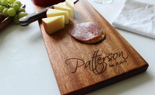 Personalized Cheese Board Custom Name Cutting Board Wedding