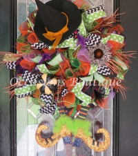Wicked Witch Halloween Wreath Halloween Decoration Halloween