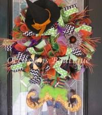Wicked Witch Halloween Wreath Halloween Decoration Halloween