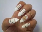 white stiletto nails nail art fake