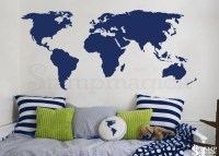 World Map Wall Decal World Map Decal Vinyl Wall by stampmagick