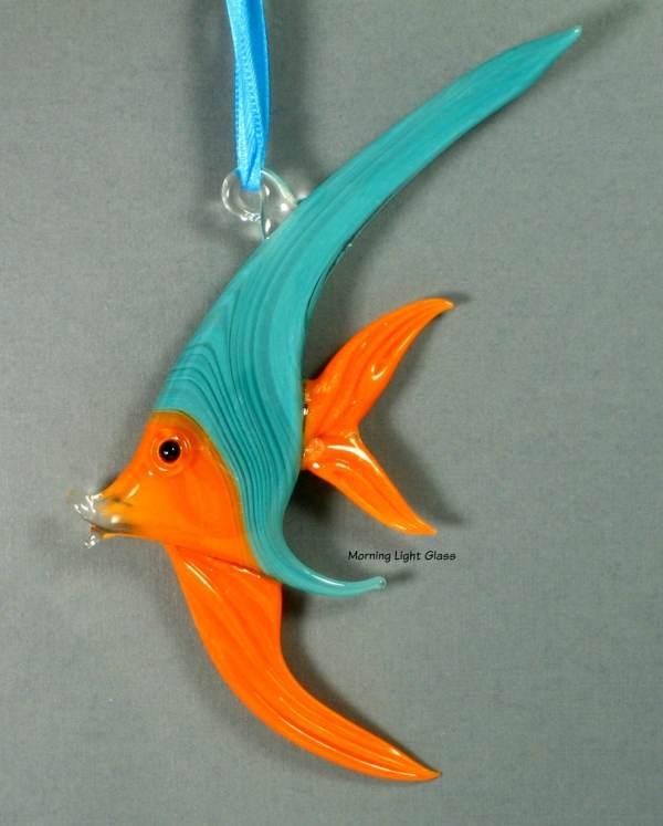 Tropical Glass Fish Ornament Lampwork Art Sealife