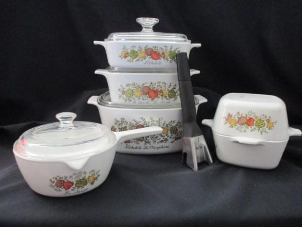 Vintage Corning Ware Spice Of Life Cookware Saucepan Set 11