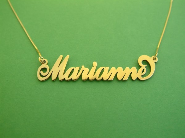 14k Solid Gold Necklace Marianne