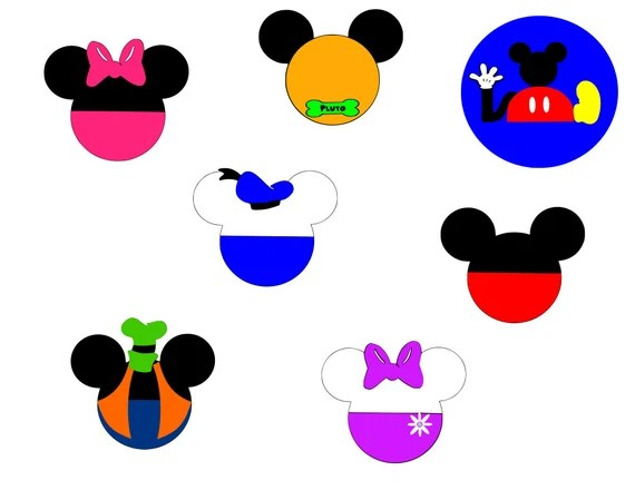 Download Mickey Mouse Clubhouse Mickey Heads svg files
