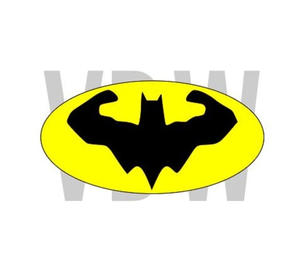 Muscle Batman Dark Knight Superhero Svg Files
