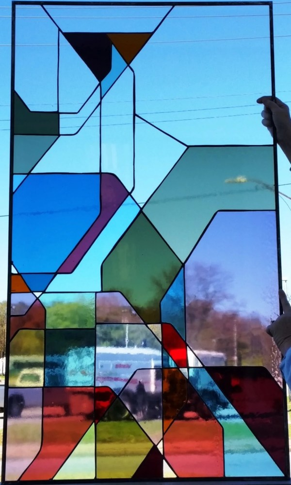 Stained Glass Window Geometric Forms -99