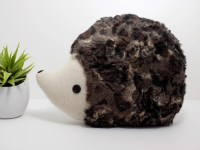 Hedgehog pillow plush in dark multi tones hedgehog stuffed