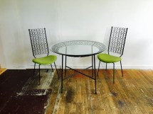 Wrought Iron Patio Furniture Mid Century Chairs Bistro