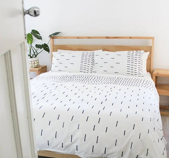 Hatch Duvet Cover - Single, Three Quarter, Queen & King 100% Cotton Bed Linen