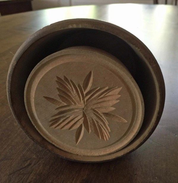 Antique Wooden Butter Stamp Mold