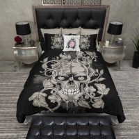Lightweight Skull Bedding Large Dark Gothic by InkandRags ...