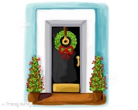 Christmas House Clipart christmas card art southern chic