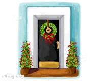 Christmas House Clipart christmas card art southern chic