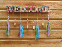 Outdoor welcome sign-front door decor-front door decoration