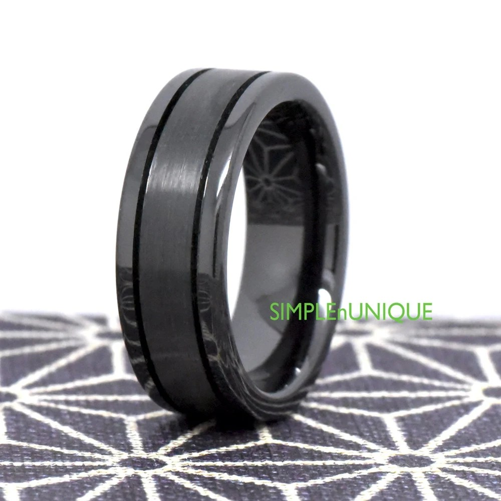 Mens Ring Unique Mens Wedding Band Promise Rings For Him