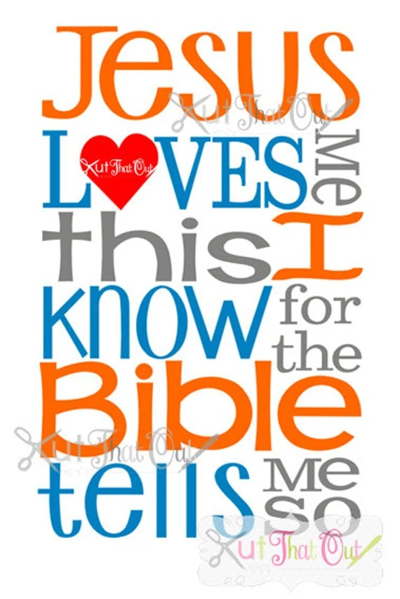 Download EXCLUSIVE Jesus Loves Me SVG & DXF Cut File