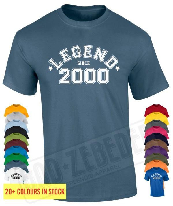 16th Birthday T Shirt Legend 2000 Funny