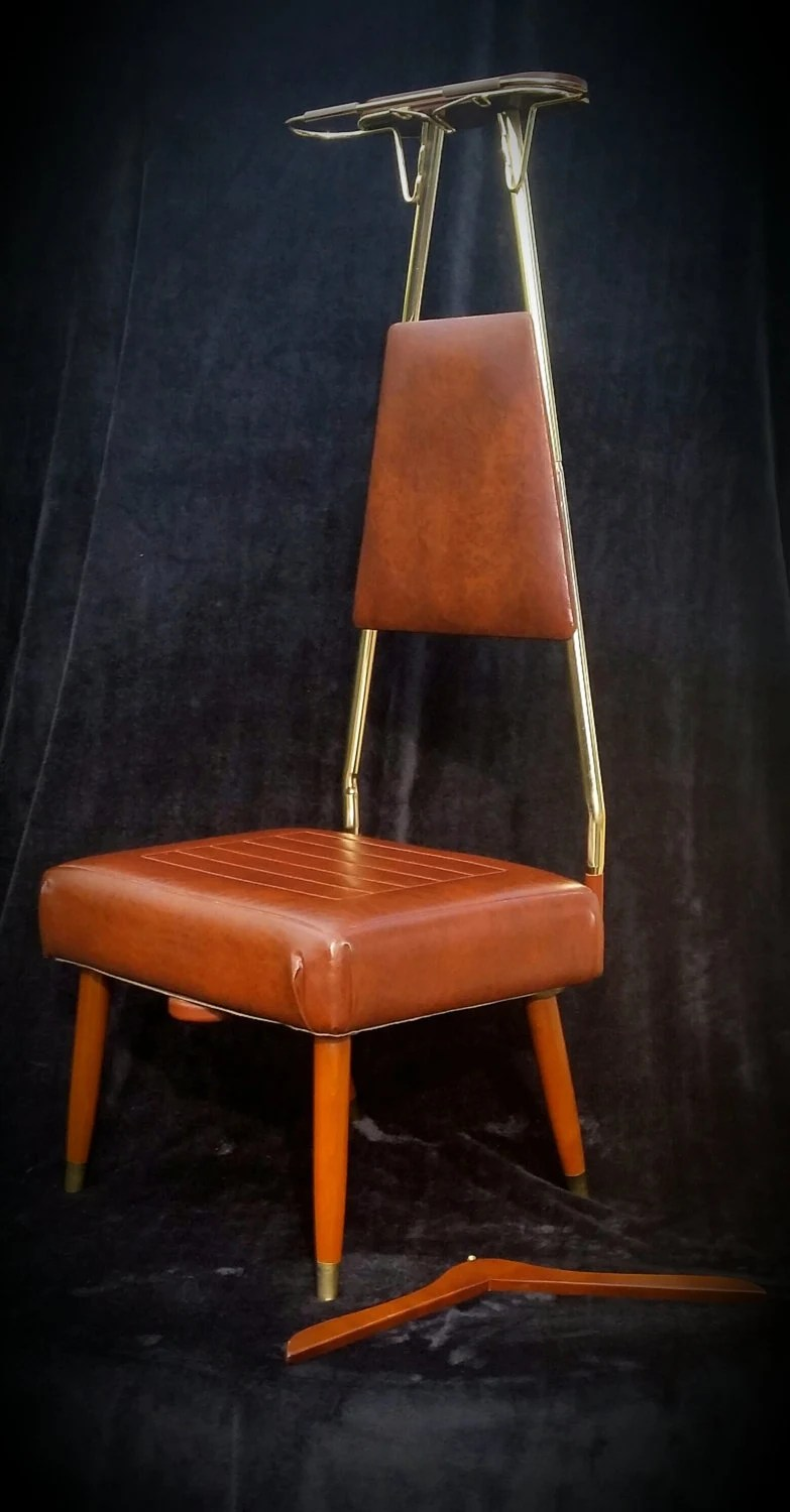 gentlemans chair portable high baby bunting mid century valet danish modern butler mcm