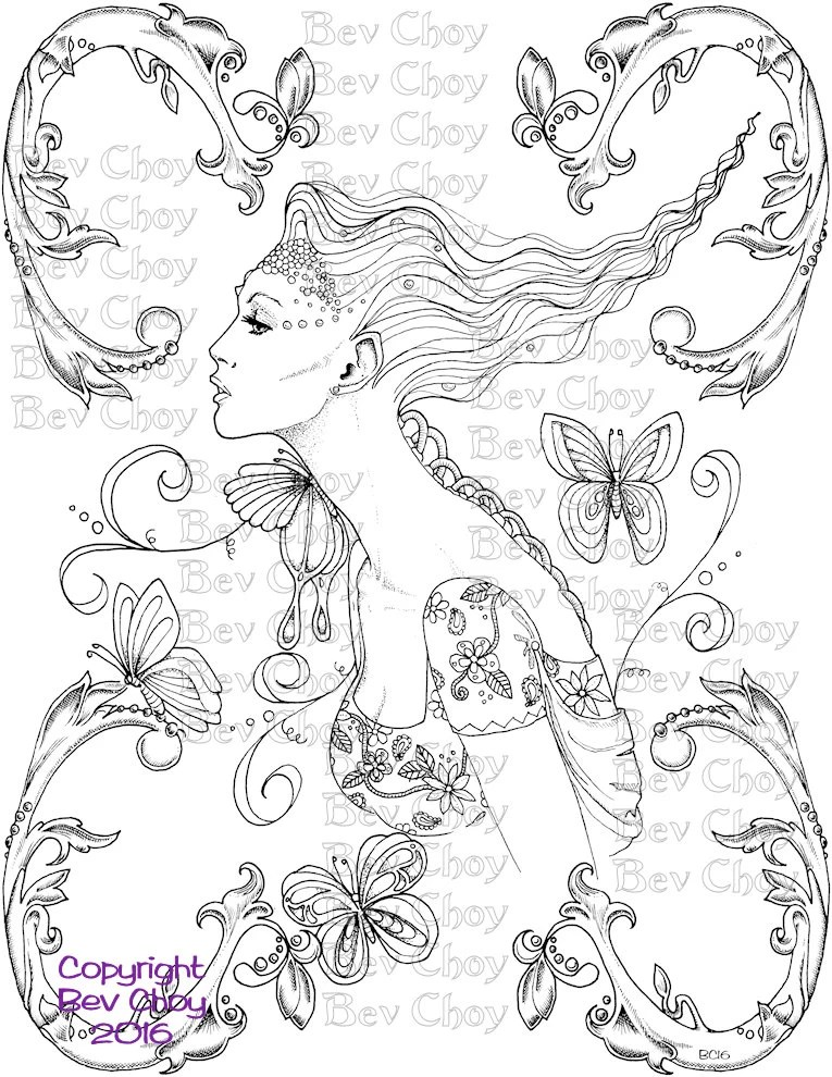 Adult Coloring Page Flourish