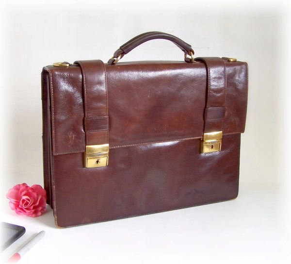 Vintage Wilsons Leather Briefcase Messenger Thewhitepelican