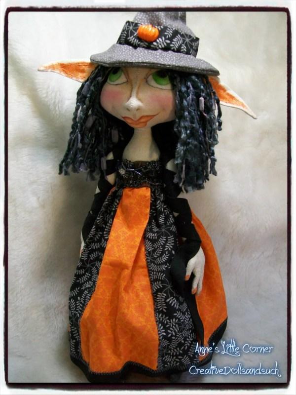 Cloth Art Doll Witch