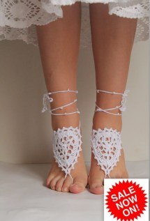 Bridal Shower Shoes White Barefoot